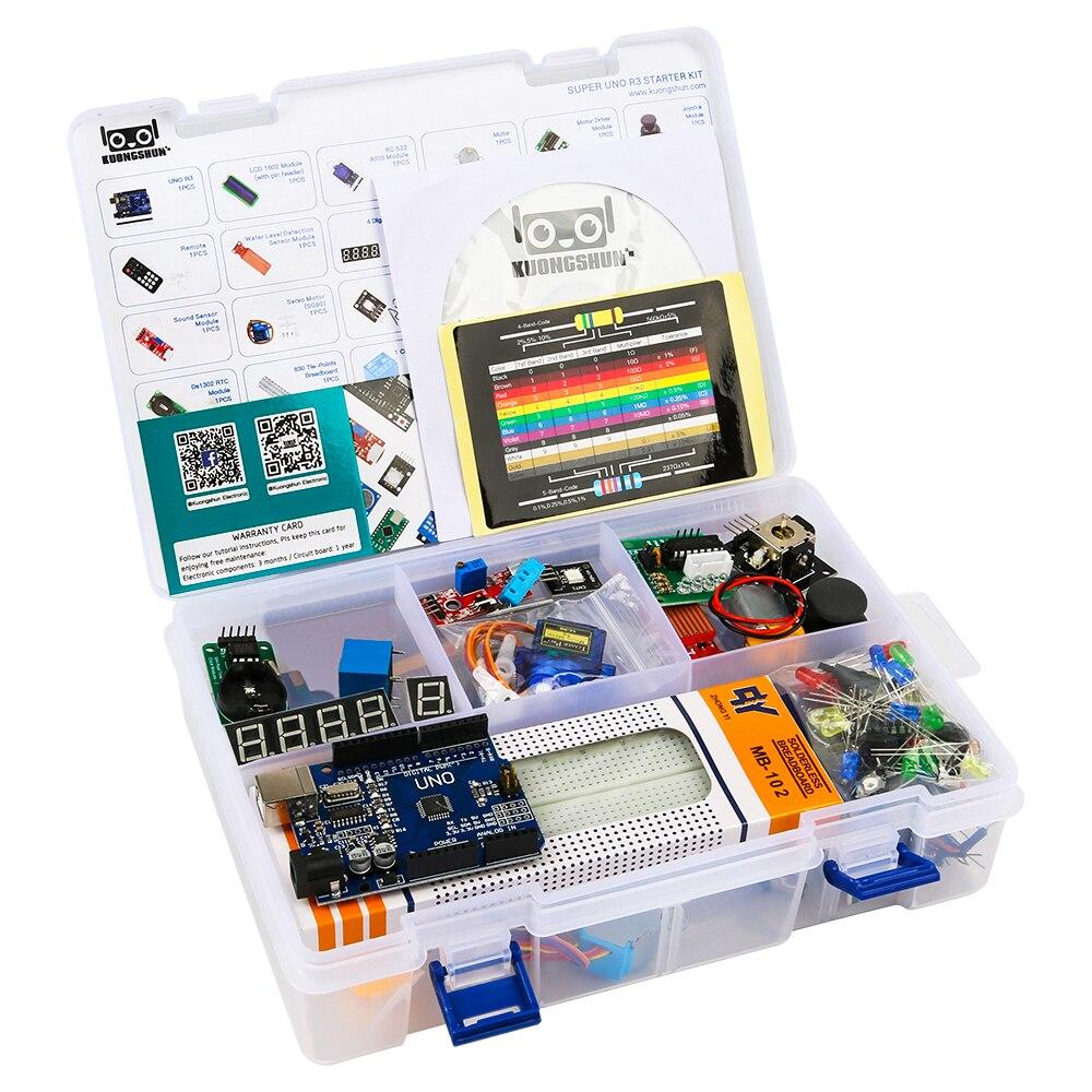 2019 die Meisten kosten-effektive DIY Projekt Starter Elektronische DIY Kit Mit Tutorial Kompatibel mit Arduino IDE UNO R3 CH340