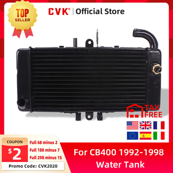 цена на CVK Motorcycle Aluminium Radiator Cooler Cooling Water Tank For HONDA CB400 CB400SF 1992 1993 1994 1995 1996 1997 1998 92-98