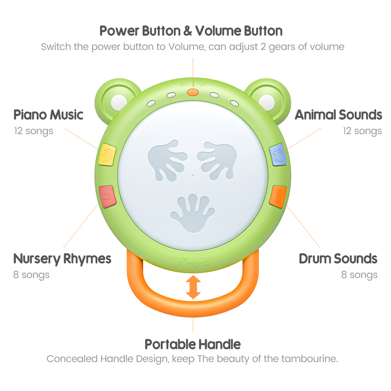 Drum Baby Toys Educational-Toys Musical-Instruments Tumama Kids Children 6-12-Months