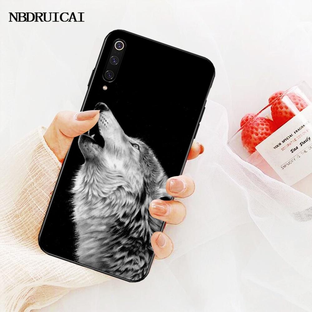 NBDRUICAI מגניב זאב Hipster הדפסת בלינג חמוד מקרה טלפון Redmi הערה 8 8A 7 6 6A 5 5A 4 4X 4A ללכת פרו בתוספת ראש