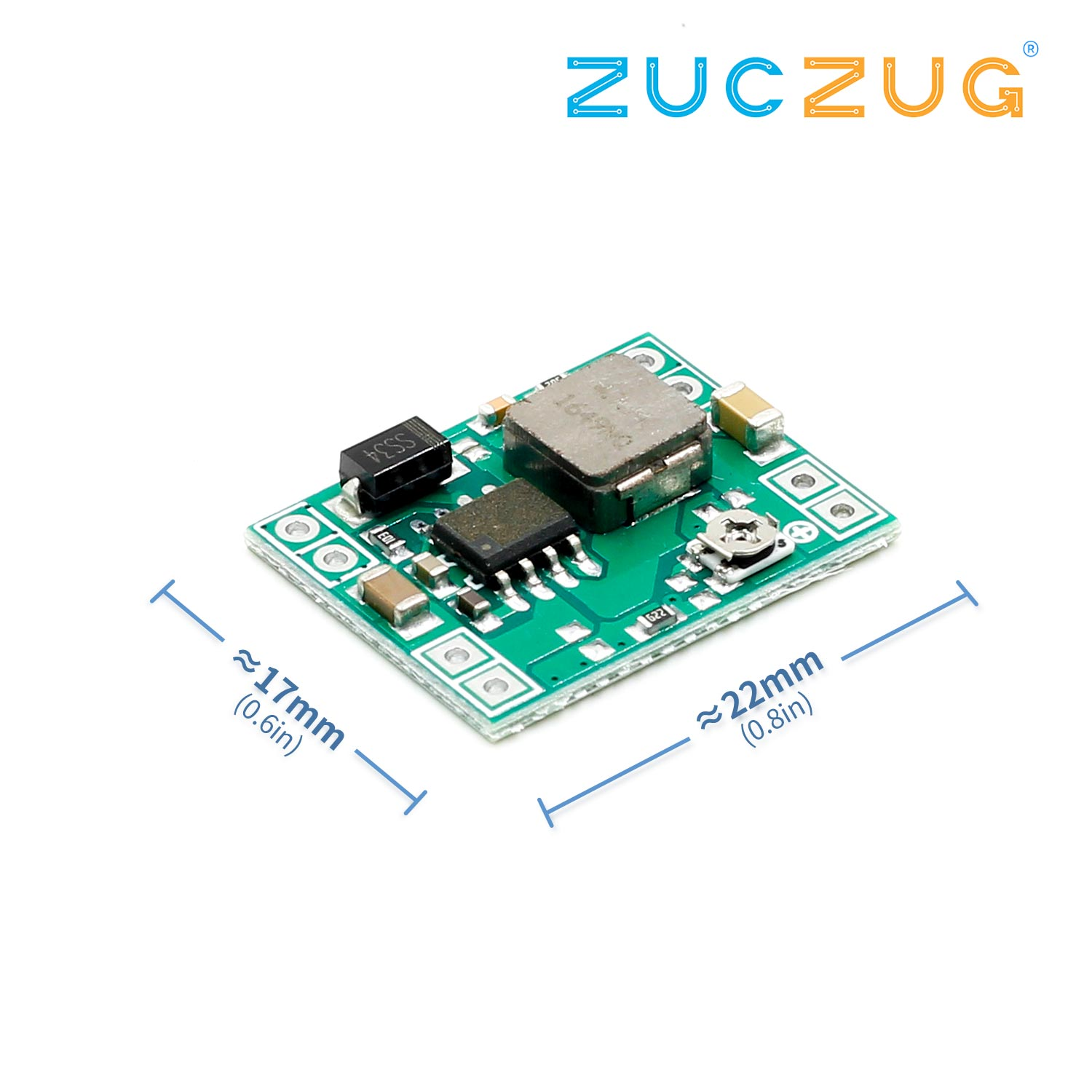 Mini DC-DC Step Down Power Supply Module 3A 4.5-28V To 0.8-20V Adjustable Buck Converter Replace LM2596