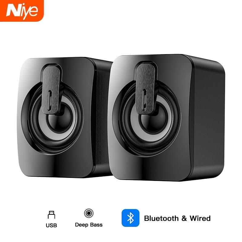 Bluetooth Speaker USB Computer Speakers 3D Stereo Bass Sound Subwoofer Music Player for PC Laptop Desktop Multimedia Loudspeaker 1