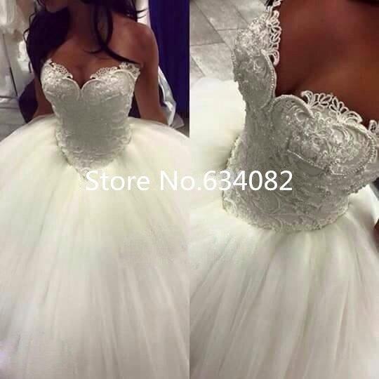 Princess Ball Gown Back Lace Up Wedding Dress Vestido De Noiva Casamento 2017 Off Shoulder Short Sleeve Lace Bridal Wedding Gown