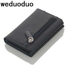 Кошелек для кредитных карт алюминиевый мужской женский металлический кошелек для карт пакет визитных карточек протектор RFID
