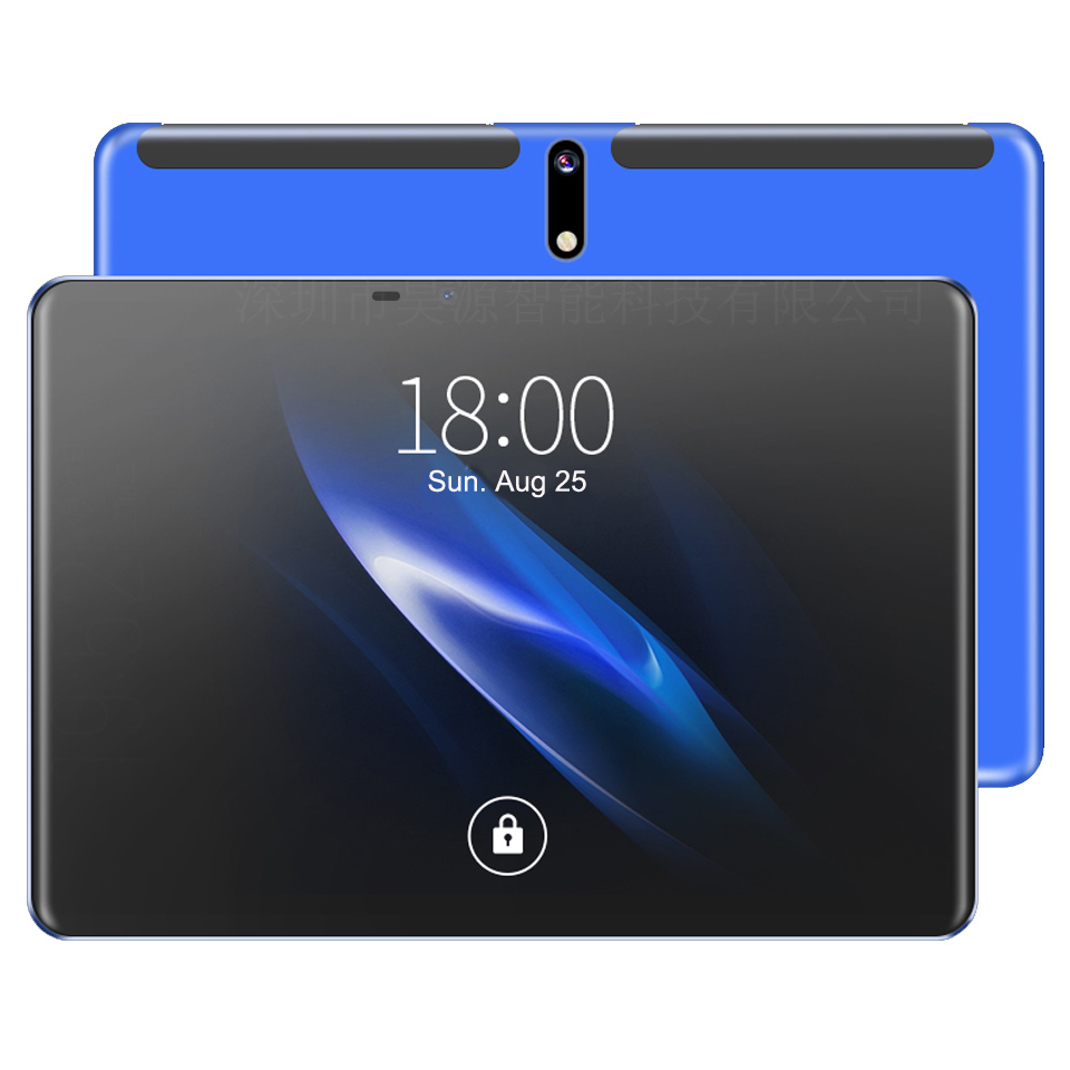 Newest Google Play Android 9.0 10.1 Inch  MTK6762 Tablet Octa Core 4GB RAM 128GB ROM 1920*1200 IPS Kids Tablets With Keyborad