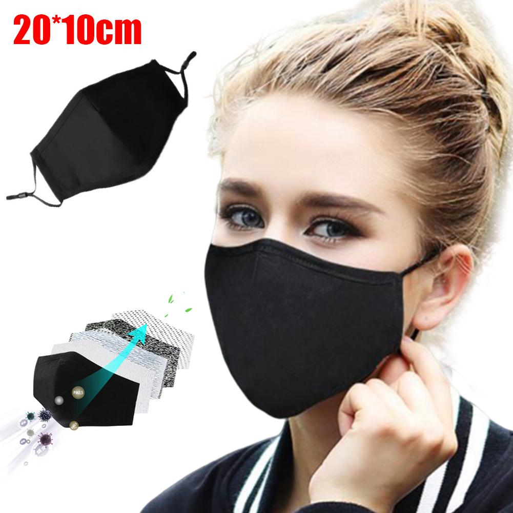 PM2.5 Cotton Activated Carbon Filter Dust Proof Anti-pollution Cotton Mouth Mask Anti Dust Allergy Masca In Stock Fast Shipment