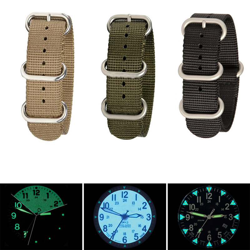 BORONG Nylon Watchbands NATO Strap 22MM 2.00mm Thickness Soft Sport Camouflage Nylon Watch Strap Men Wristband Washable
