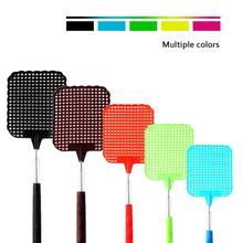 5PCS Retractable Plastic Fly Swatter Summer Supplies Mosquito Killer Home Daily Telescopic Fly Swatter expansion bar fly killer stainless steel retractable fly swatter plastic mosquito swatter multifunctional mosquito swatter