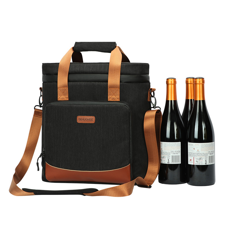 Thicken Collision Avoidance Wine Cooler Bag Portable Waterproof Keep Cold Handbags Outdoor Camping Picnic Supplies Accessories