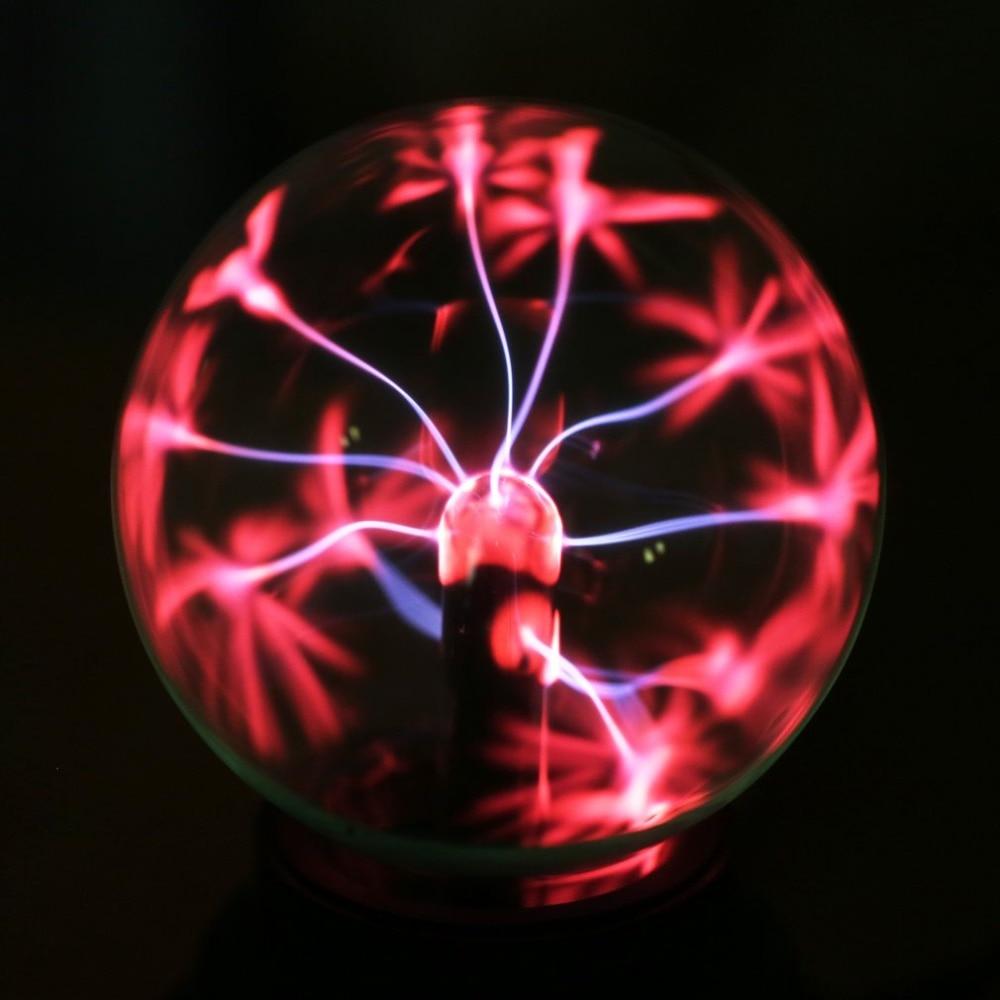 3 pouces ICOCO USB Magique Boule de Plasma Sphère Lumière Boule de Plasma Magique Lumière En Cristal Transparent Lampe Décoration De La Maison De Qualité Supérieure