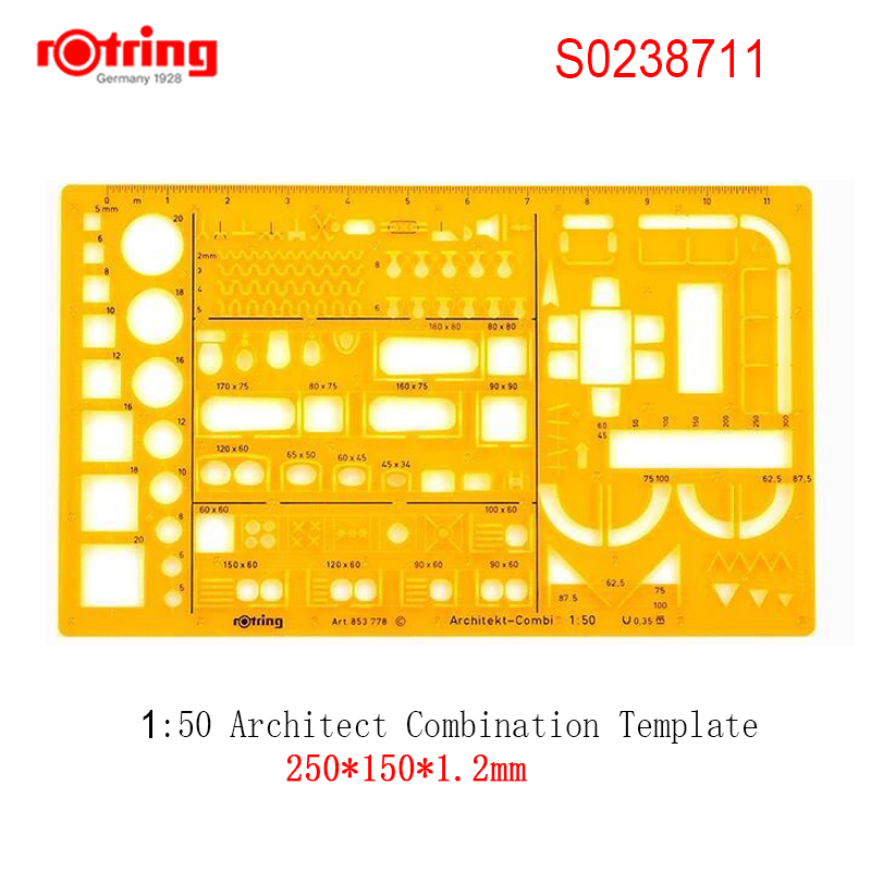 rotring Architect combination Template 1:50/1:100 drawing tools