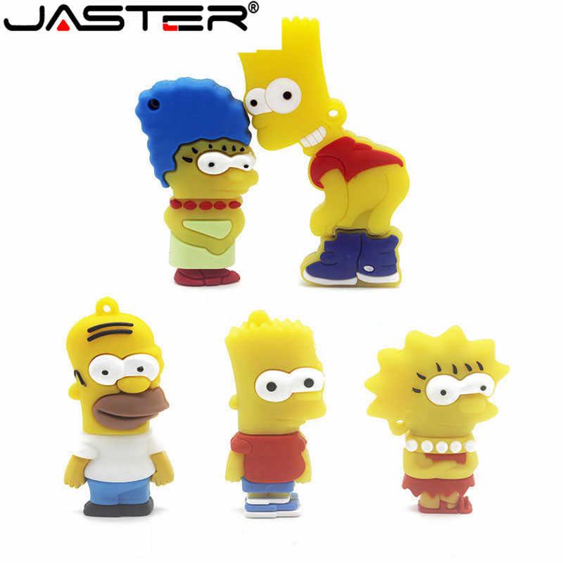 JASTER Bart Simpson 마우스 늑대 4 기가 바이트 8 기가 바이트 32 기가 바이트 64 기가 바이트 메모리 스틱 U 디스크 PenDrive 호머 펜 드라이브 USB 플래시 드라이브