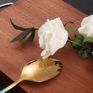 Image 5 - Stahl Besteck Set Gold Besteck Set Edelstahl Besteck Westlichen Geschirr Set Küche Messer Löffel Rosa Set Dropshipping