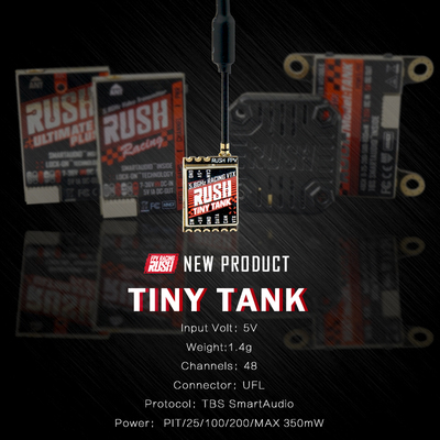 RUSH Tiny TANK Nano VTX 48CH 350mW TBS SmartAudio FPV Video Transmitter 5V Input for RC Drone FPV Racing Toothpick