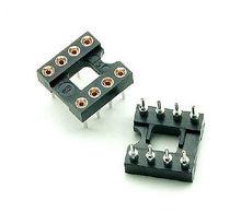 100pcs 8Pin DIP SIP Round IC Sockets Adaptor Solder Type gold plated machined diy electronics 100pcs ua741cn ua741 lm741 op amp compensation type dip 8