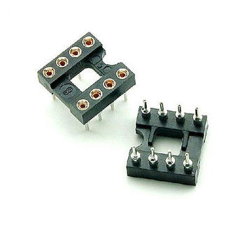 цена на 100pcs 8Pin DIP SIP Round IC Sockets Adaptor Solder Type gold plated machined diy electronics