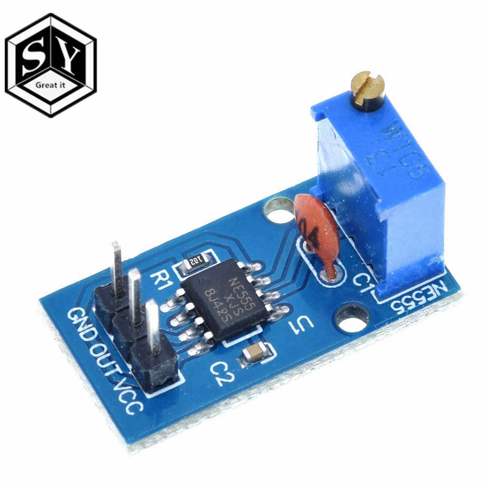 Besar Itu DC 5V 12V NE555 Adjustable Resistensi Pulsa Frekuensi Generator Modul Single Channel Output UNTUK ARDUINO Smart C