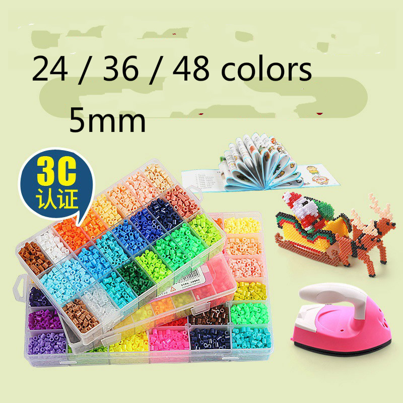 15 Grid Suit Perler Beads 5mm Kit Hama Beads Creative 3D Puzzle Full Set With All Accessories Ironing Handmade Beads Toy Gift