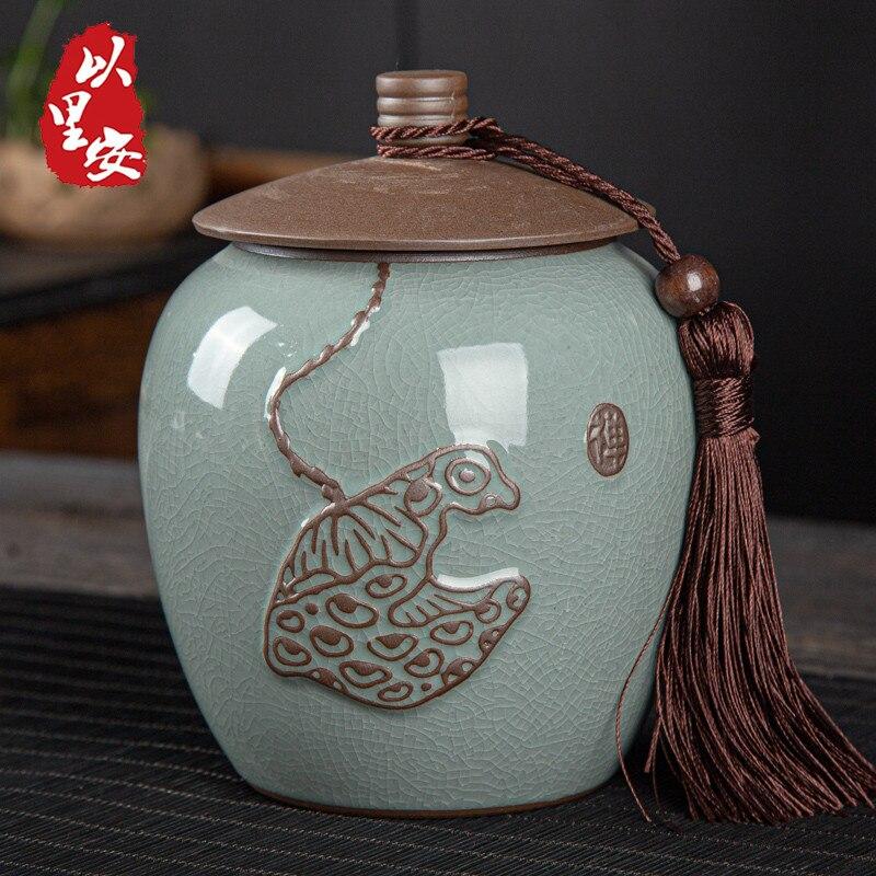Sugar Tea Jars Storage Coffee Packaging Set Ceramic Storage Jar Vintage Jars Organizer Container Caja De Te Kitchen Tools