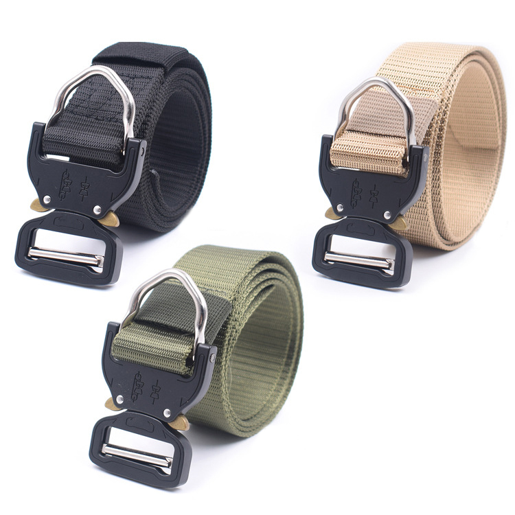 <font><b>USMC</b></font> Military Army Multi-functional Survival Systems Belt with D <font><b>Ring</b></font> Buckle image