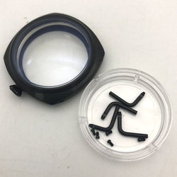 Etui na zegarek ETA6497 6498 MOVT 47mm czarne szczotkowane opakowanie ze stali nierdzewnej P47-9