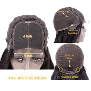 Image 5 - QT 4*4 dantel kapatma peruk insan saçı peruk brezilyalı gevşek derin dalga siyah kadınlar için ön koparıp dantel ön insan saçı peruk