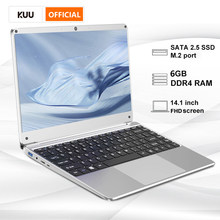 14.1 Inch Student Laptop 6G DDR4 RAM 128G 256G SSD Notebook Full Layout Keyboard WiFi Bluetooth for Game Portable PC