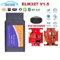 Escáner inalámbrico V1.5 PIC18F25K80 ELM327, Bluetooth V1.5, compatible con todos los protocolos OBD2, ELM 327 para Android