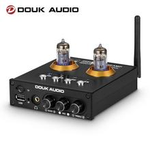 Douk Audio P2 HiFi Vacuum Tube Preamp Bluetooth 5.0 Receiver Stereo Headphone Amplifier USB Music Player