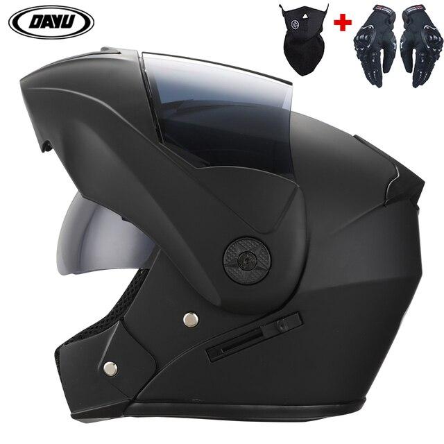Professional Racing Helmet Modular Dual Lens Motorcycle Helmet Full Face Safe Helmets Casco Capacete Casque Moto S M L