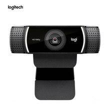 100% 오리지널 Logitech C922 PRO 자동 초점 웹캠 내장 마이크 삼각대가있는 풀 HD 앵커 카메라