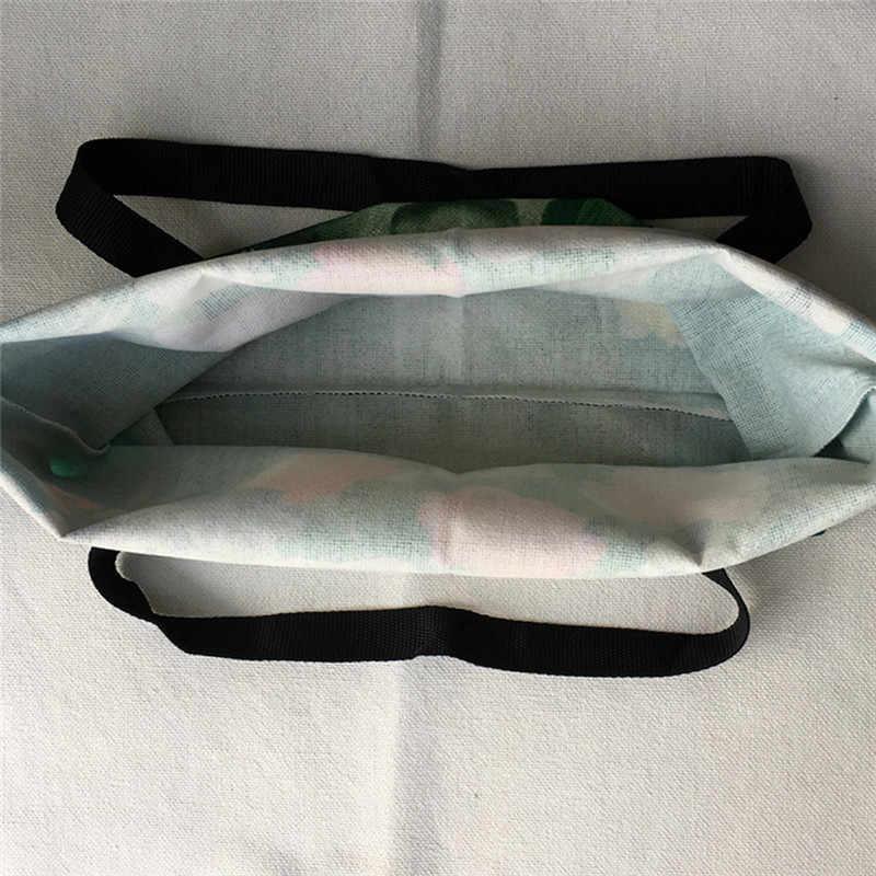 SY0106 Aangepaste Leuke Kat Olieverf Vrouwen Tas Eco Herbruikbare Boodschappentassen Creatieve Gedrukt Handtas Tassen
