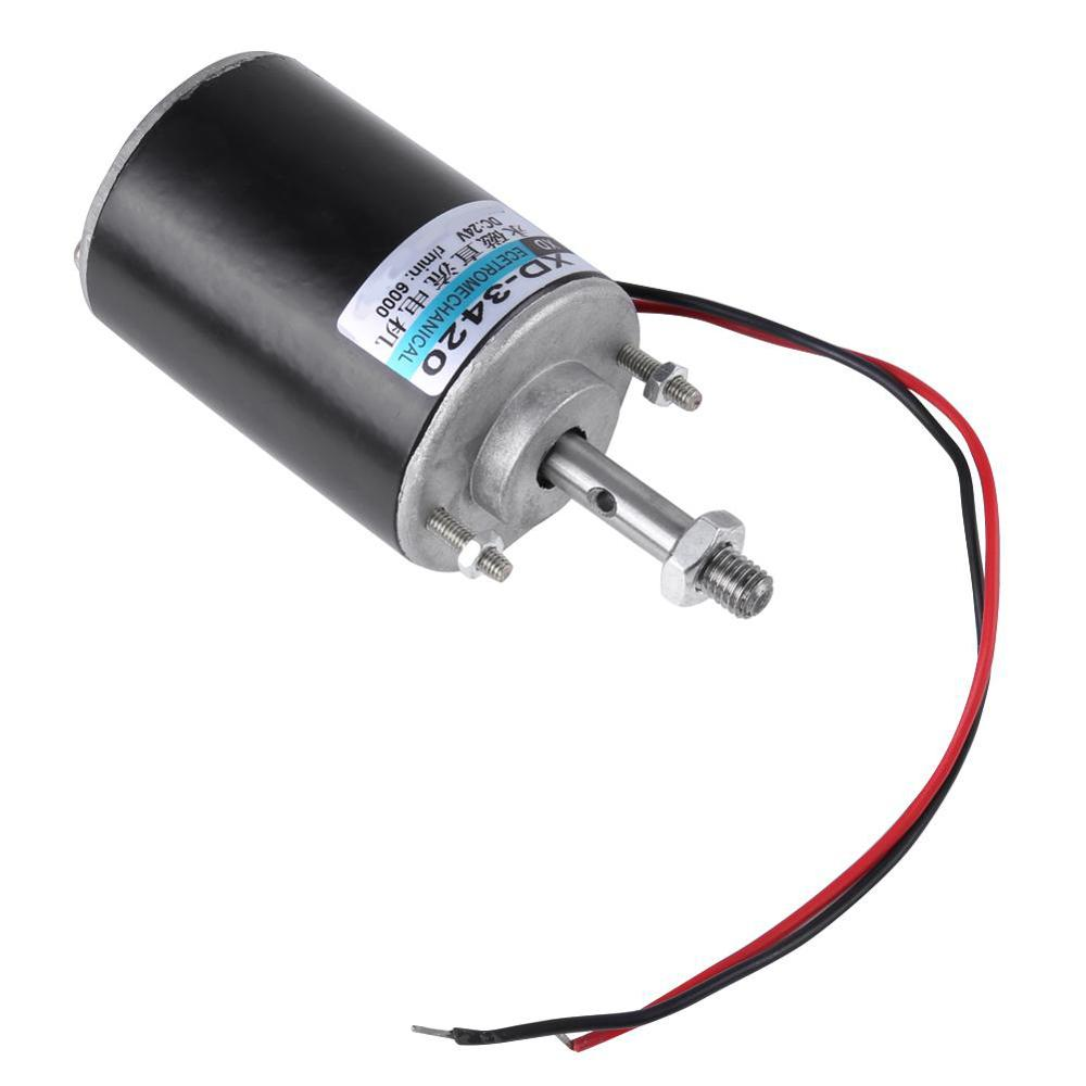 DC 24V High Torque Motor Speed Adjusting CW//CCW Brush DC Motor For DIY Generator