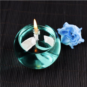10pcs/pack Ball Shaped Glass Oil Lamp Wedding Decoration Handcraft Glass Oil Lamp Friend Gift Glass Candle Holder