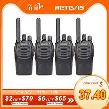 جهاز لاسلكي تخاطب 4 قطعة Retevis H777 Plus PMR446 لاسلكي لاسلكي PMR راديو FRS H777 محطة إذاعية يدوية في اتجاهين USB شحن للفندق