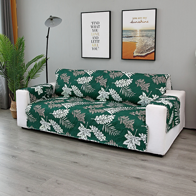 Image 2 - Embossing Process Modern Couch Cover Sofa Towel  Leaves Print  Removable Armrest Slipcovers Pet Dog Kids Mat Furniture ProtectorSofa  Cover