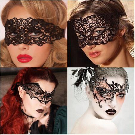 Сексуальная загадочная Женская кружевная маска на глаза, готическая Черная Танцевальная Маска для ночного клуба, многоразовая маскарадная...