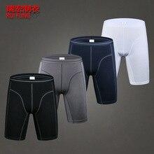2pcs lot mens winter thick underwear boxers shorts casual cotton knee length men