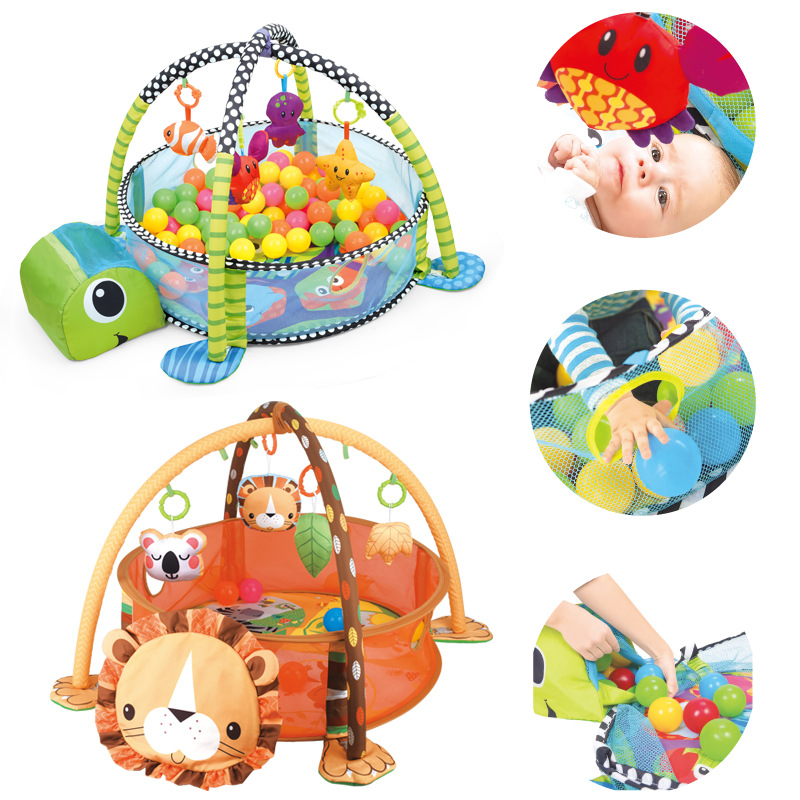 Baby fitness frame crawling blanket multi-function fence crawling mat with cloth book enlightenment toy Baby toys for boys girls