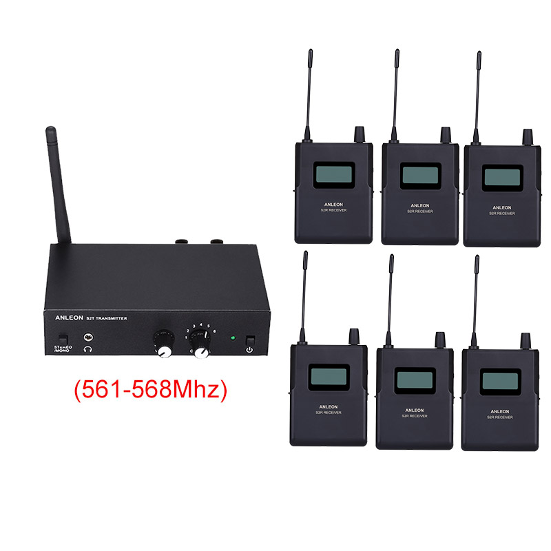 Original For ANLEON S2 UHF Stereo Wireless Monitor System 670-680MHZ 100-240V Professional Digital Stage In-Ear Monitor System