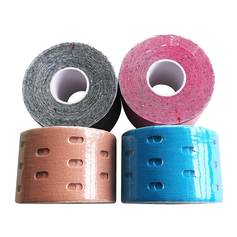1Pcs Perforated Breathable Muscle Patch Medical Elastic Sports Bandage Support Healing Pain Stress Relief Athletic Tapes 5cmx5m