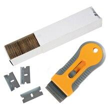EHDIS raschietto per rasoio per pulizia auto con lama in acciaio al carbonio finestra tinta forno strumento per la rimozione di adesivi in ceramica tergipavimento per pellicola in vinile