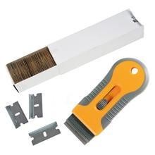 EHDIS 자동차 면도기 스크레이퍼 탄소강 블레이드 창 색조 오븐 세라믹 스티커 리무버 도구 비닐 필름 랩 스퀴지