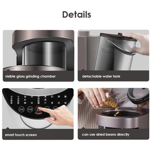 Image 4 - Joyoung Y1 Automatisch Voedsel Blender 220V Huishoudelijke Intelligente Voedsel Mixer Zelfreinigende Hot Sterilisatie Sojamelk Maker