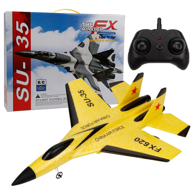 New SU-35 RC Remote Control Airplane 2.4G Remote Control Fighter Hobby Plane Glider Airplane EPP Foam Toys RC Plane Kids Gift 1