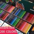 Профессиональный 200/180/150/120/72/48/24 Цвет масло Цвет карандаши древесина мягкая вода Цвет карандаш для школы рисовать принадлежности для художе...