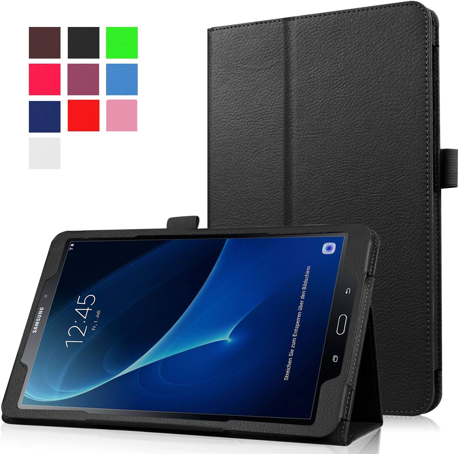 Business Flip Case For Samsung Galaxy Tab A 10.1 2016 T580 <font><b>T585</b></font> T580N T585N Smart Stand Holder Magnetic Auto Wake Up Sleep Cover image