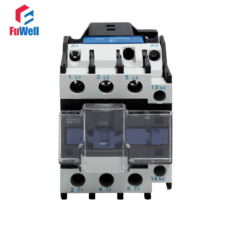 CJX2-3210 NO AC Contactor 32A 24V 36V 48V 110V 220V 380V Coil Voltage Contactor Normal Open Alternating Current Contactor