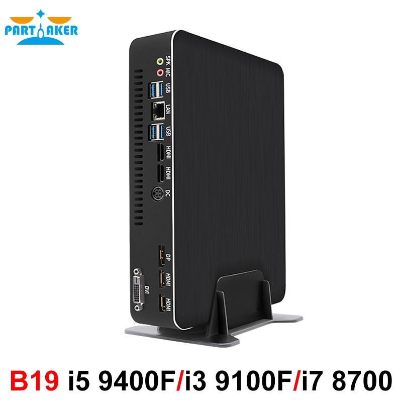 Mini Gaming PC I7 8700 I5 9400F I3 9100F GTX1050TI 4G Nvidia GPU Win10 Pro Barebone Nettop Linux Desktop Computer WiFi 2*HDMI2.0