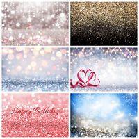 Ensueño fantasía estrella brillante Polka Dot luz Bokeh la boda cumpleaños fiesta bebé recién nacido foto telón de fondo fotográfico como telón de fondo